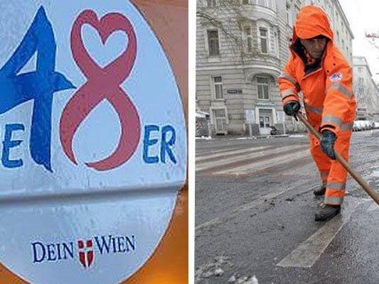 Die MA 48 sorgt auch zu Weihnachten für ein sauberes Wien