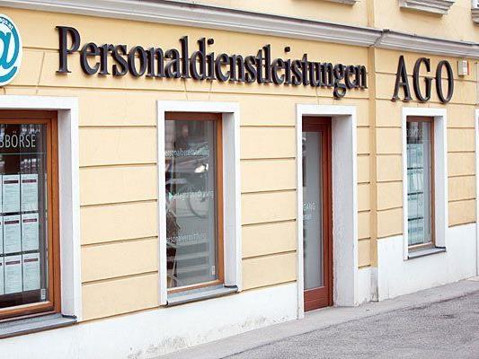 """Außenansicht der Firma """"AGO"""" in Wien, die nun Insolvenz anmelden wird"""
