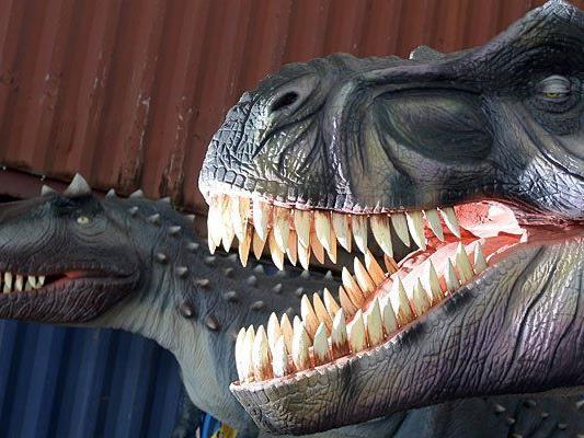 Dinosaurier waren auch 2009 bereits in der Marx-Halle zu sehen