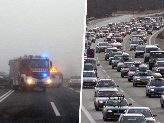 einige Unfälle wegen dichtem Nebel auf der A1 Richtung Wien