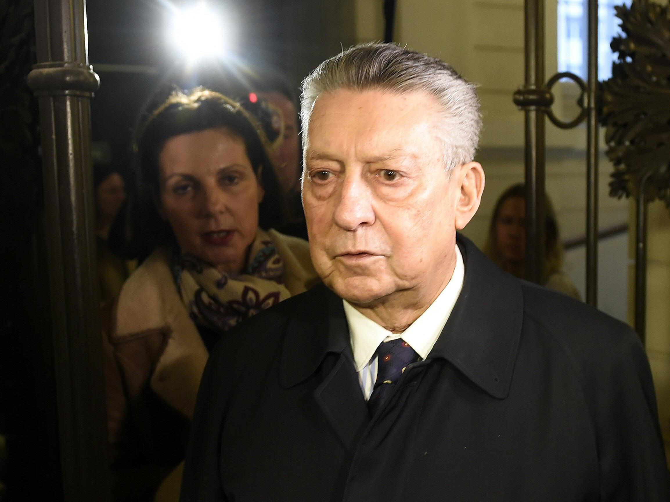 Ex-BAWAG-Chef Helmut Elsner und seine Frau Ruth anlässliches des Prozesses der Bawag im Straflandesgericht Wien.