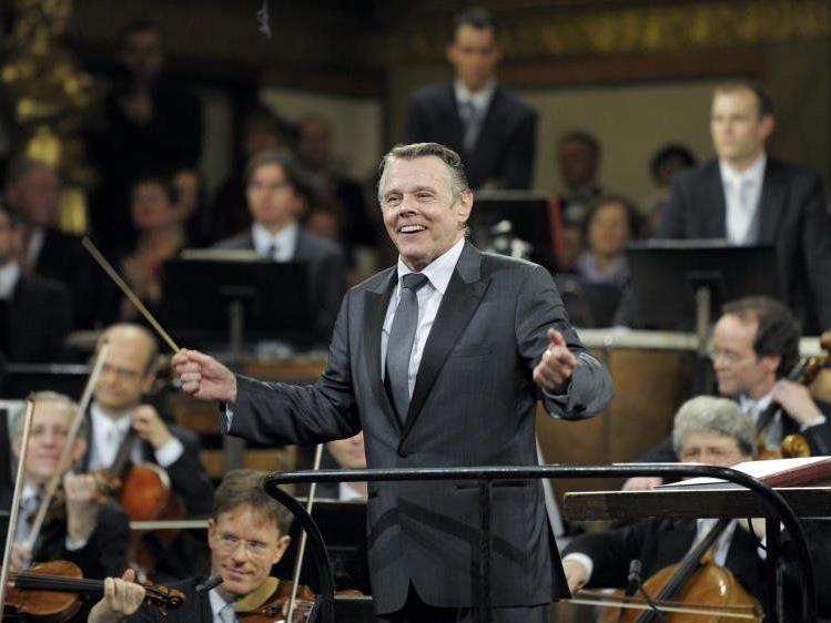 Dirigent Mariss Jansons und die Wiener Philharmoniker.