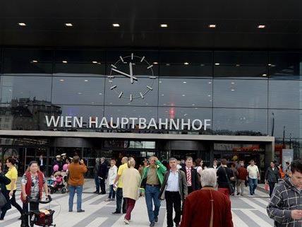 Am Wiener Hauptbahnhof läuft bislang alles ohne Probleme