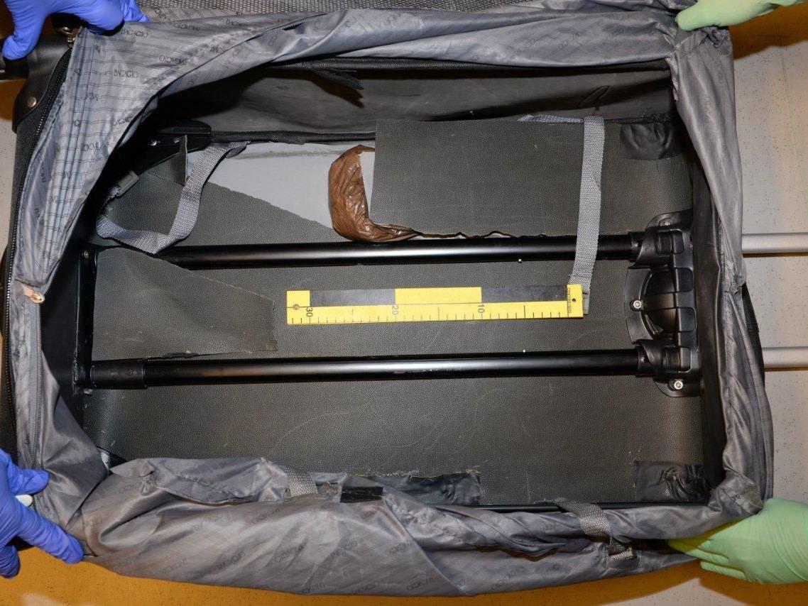 In diesem Koffer war das Heroin versteckt.