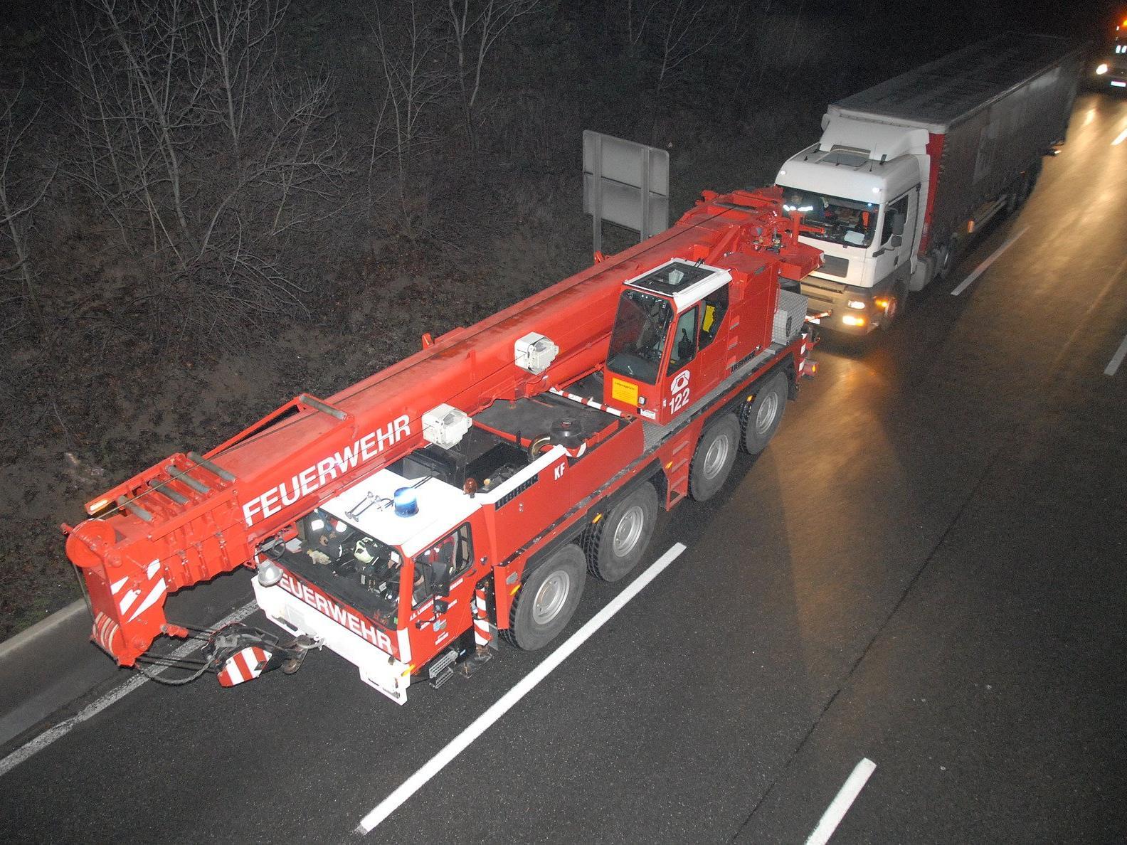 Die Freiwillige Feuerwehr im Einsatz.