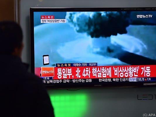 Südkorea und Japan verurteilten den Test scharf