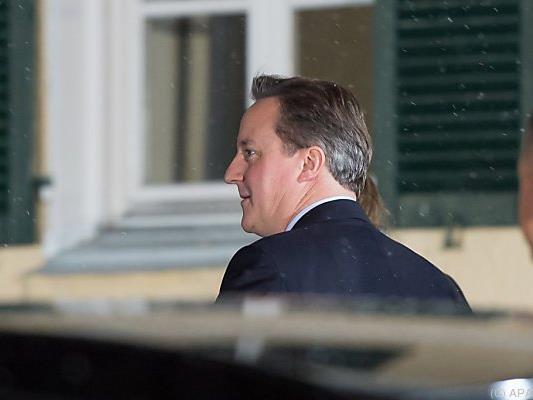 Cameron traf am Mittwochabend in Deutschland ein