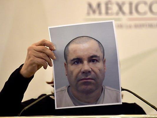 "Drogenboss Joaquin ""El Chapo"" Guzman auf einem Fahndungsfoto"