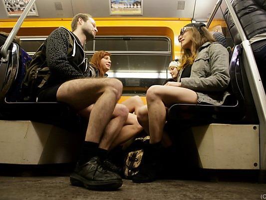 Auch in Wien fuhren viele ohne Hose