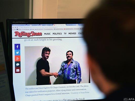 Sean Penn traf den berüchtigten Drogenboss