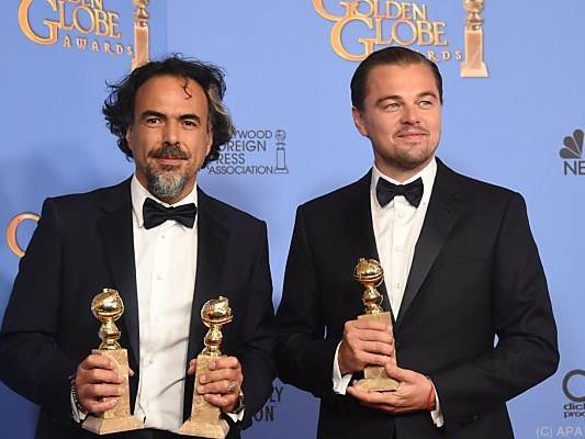 Inarritu mit seinem Star Leonardo DiCaprio