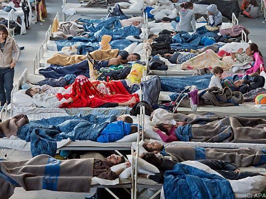 Flüchtlingsunterkunft in Hanau in Hessen