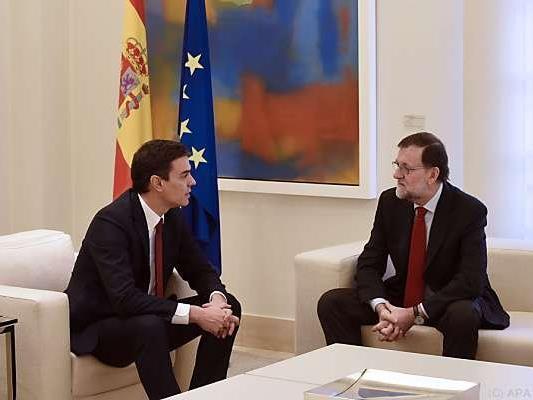 PSOE-Chef Sanchez mit PP-Führer Rajoy: Große Koalition angeboten