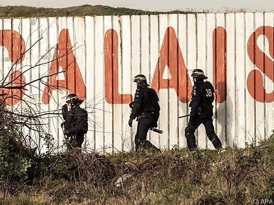 Polizeieinsatz in Calais