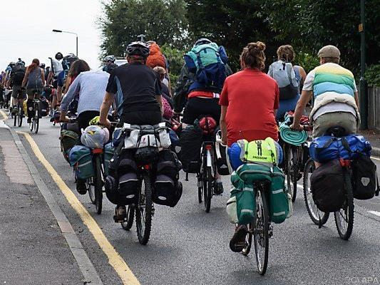 Der Radler nahm an einer Critical-Mass-Ausfahrt teil