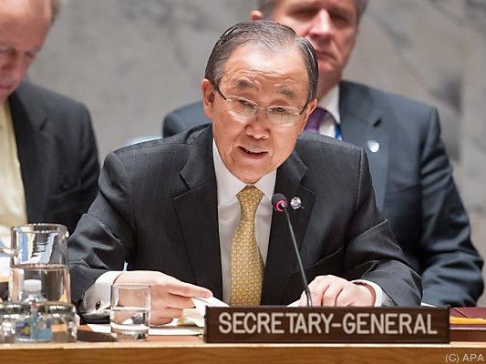 UNO-Generalsekretär Ban vor dem Sicherheitsrat