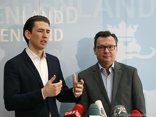 Integrationsminister Kurz und Soziallandesrat Darabos