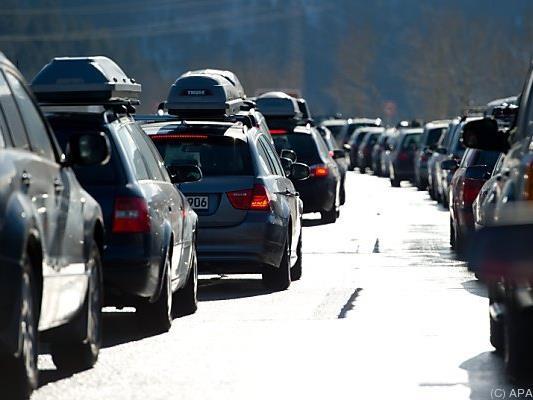 Staus auf den Straßen in die Skigebiete sind vorprogrammiert
