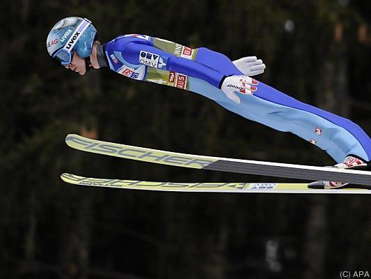 Der Oberösterreicher sprang 127 Meter weit