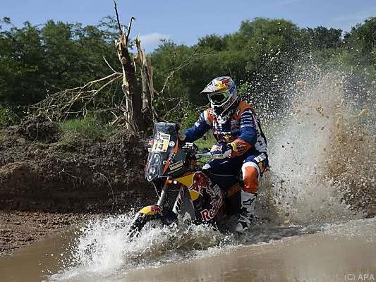 Matthias Walkner in Aktion bei der Rallye Dakar