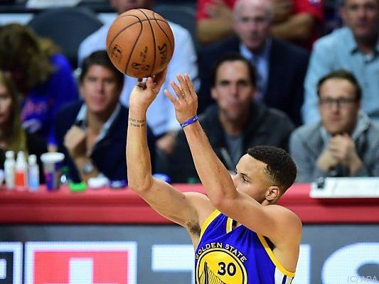 Stephen Curry warf 37 Punkte für die Sieger