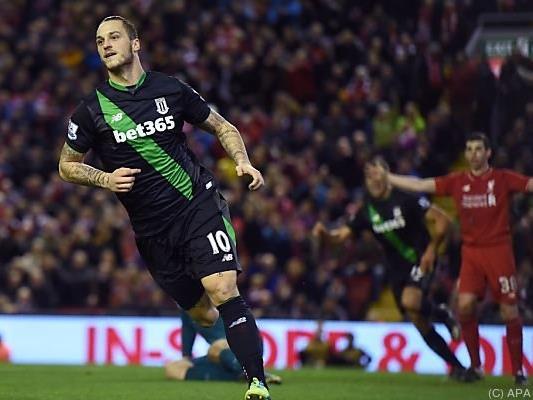 Arnautovic hatte Stoke in die Verlängerung geschossen