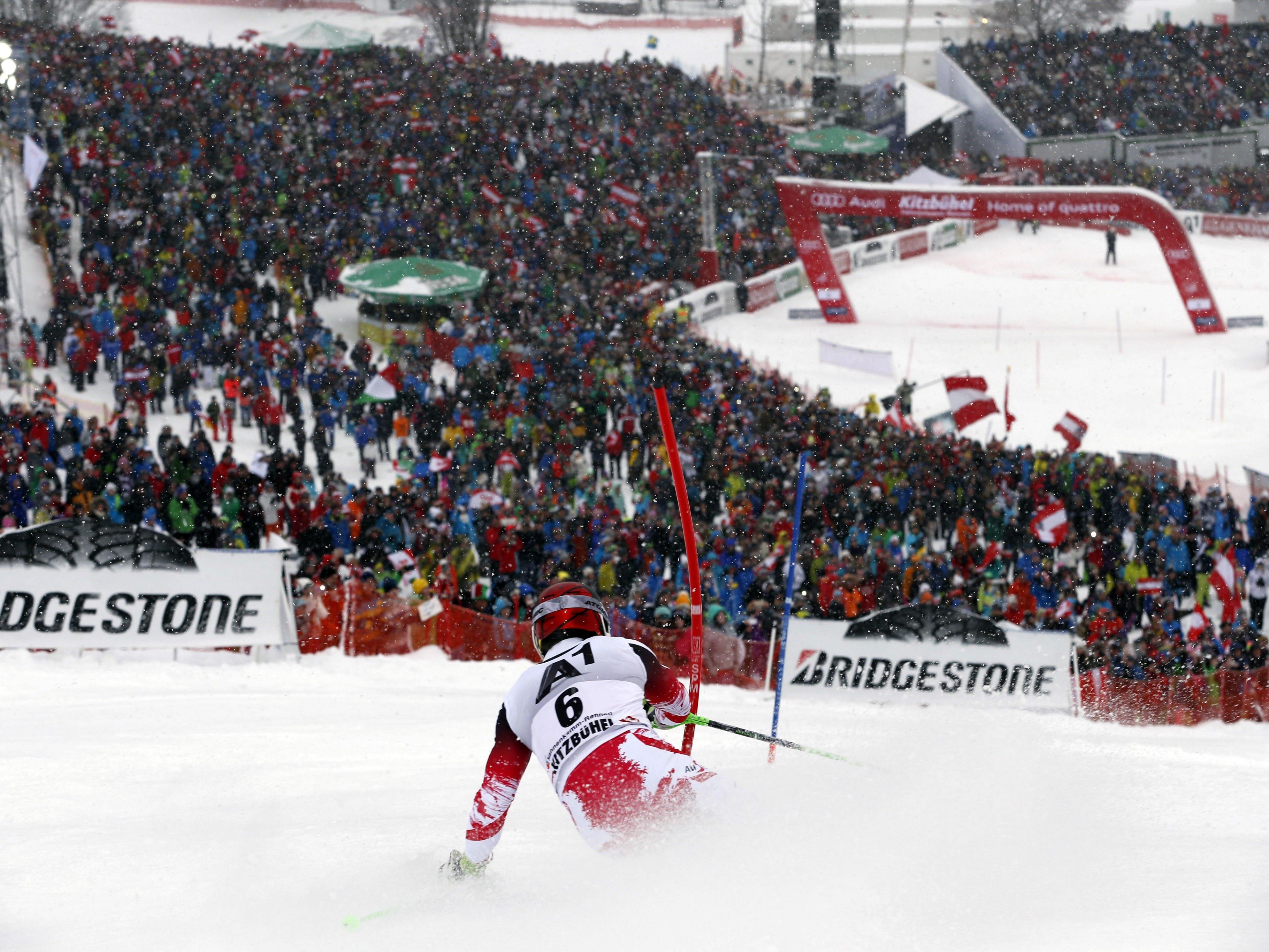Am Sonntag trauen sich die Slalom-Spezialisten wieder über den Ganslernhang.