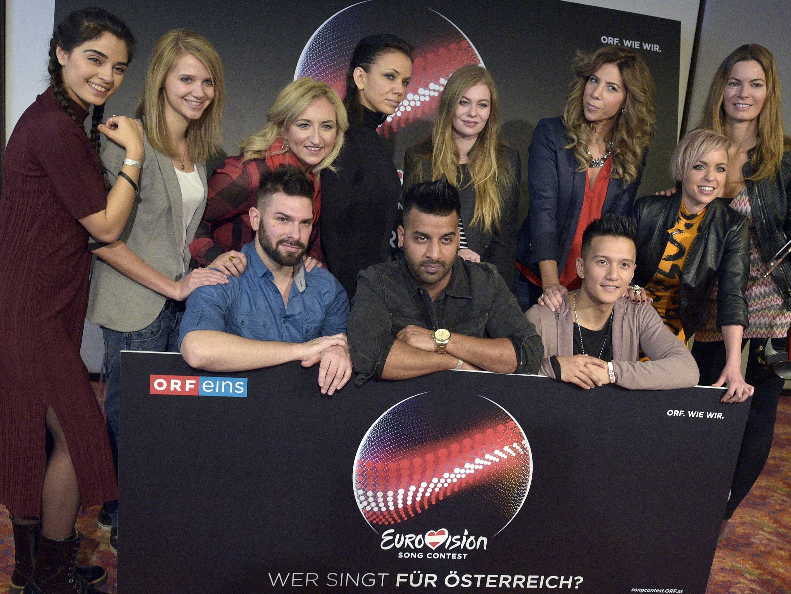 61. Song Contest: Heimische Kandidaten zwischen Pop und R'n'B