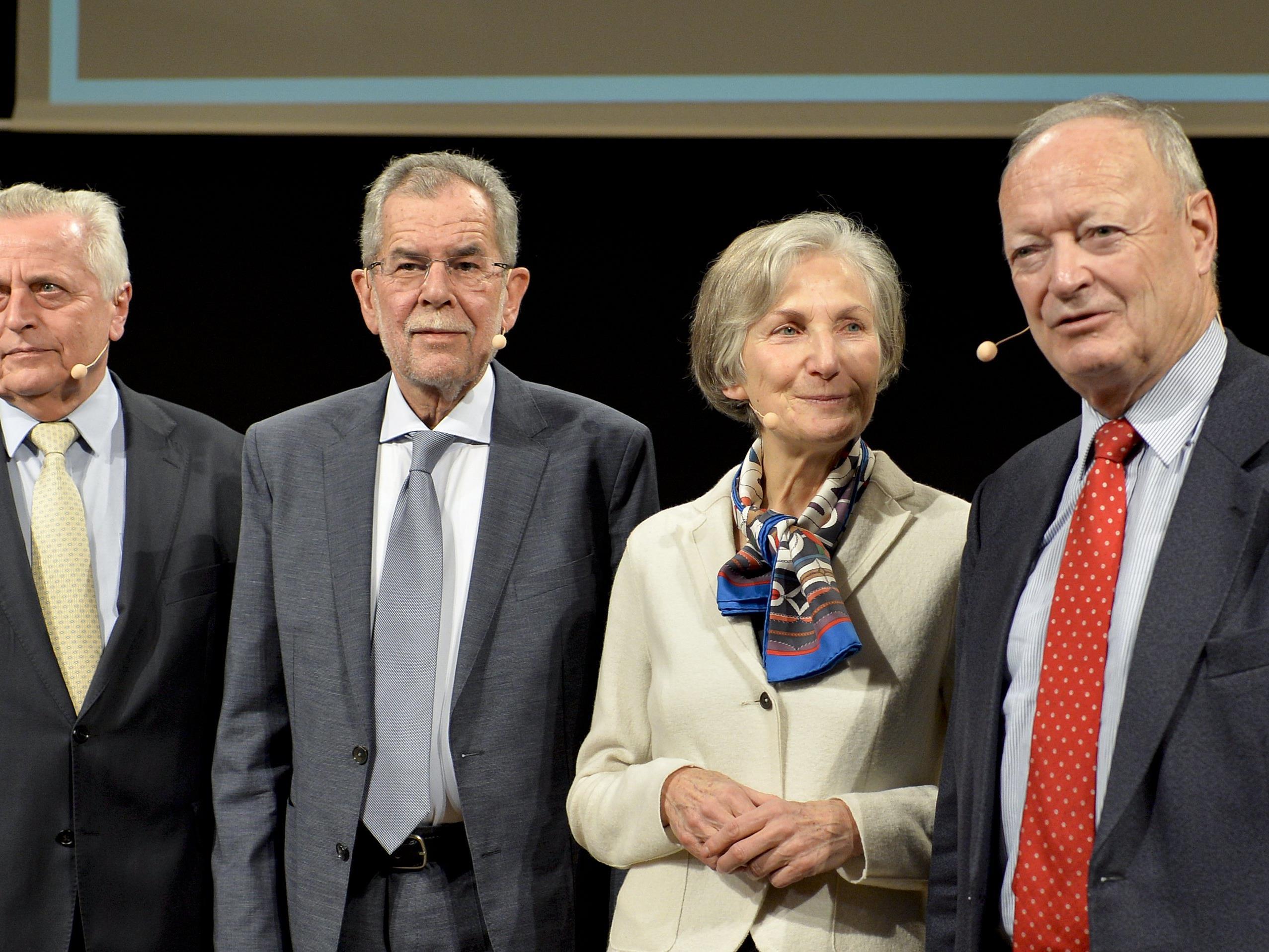 Die vier bisherigen Präsidentschaftskandidaten auf einen Blick.