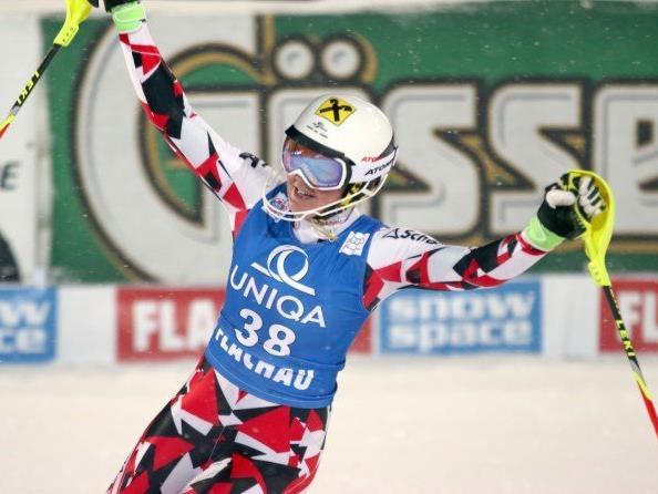 Die jungen ÖSV-Damen um Julia Grünwald überzeugten im heutigen Slalom.