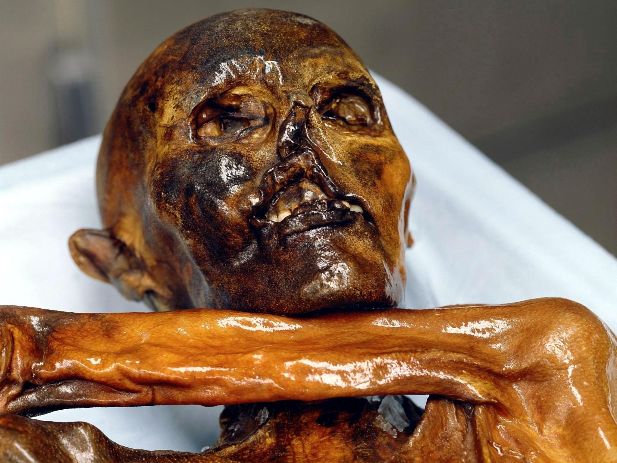 Die Ahnen von Ötzi stammen wohl aus Asien.