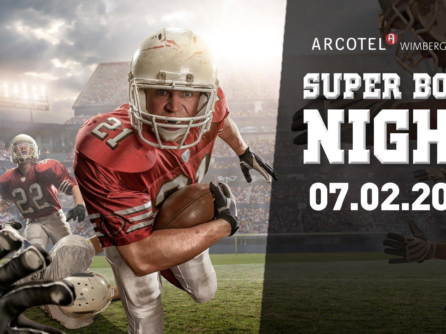 Große Super Bowl-Night im Arcotel Wimberger am 7. Februar 2016.