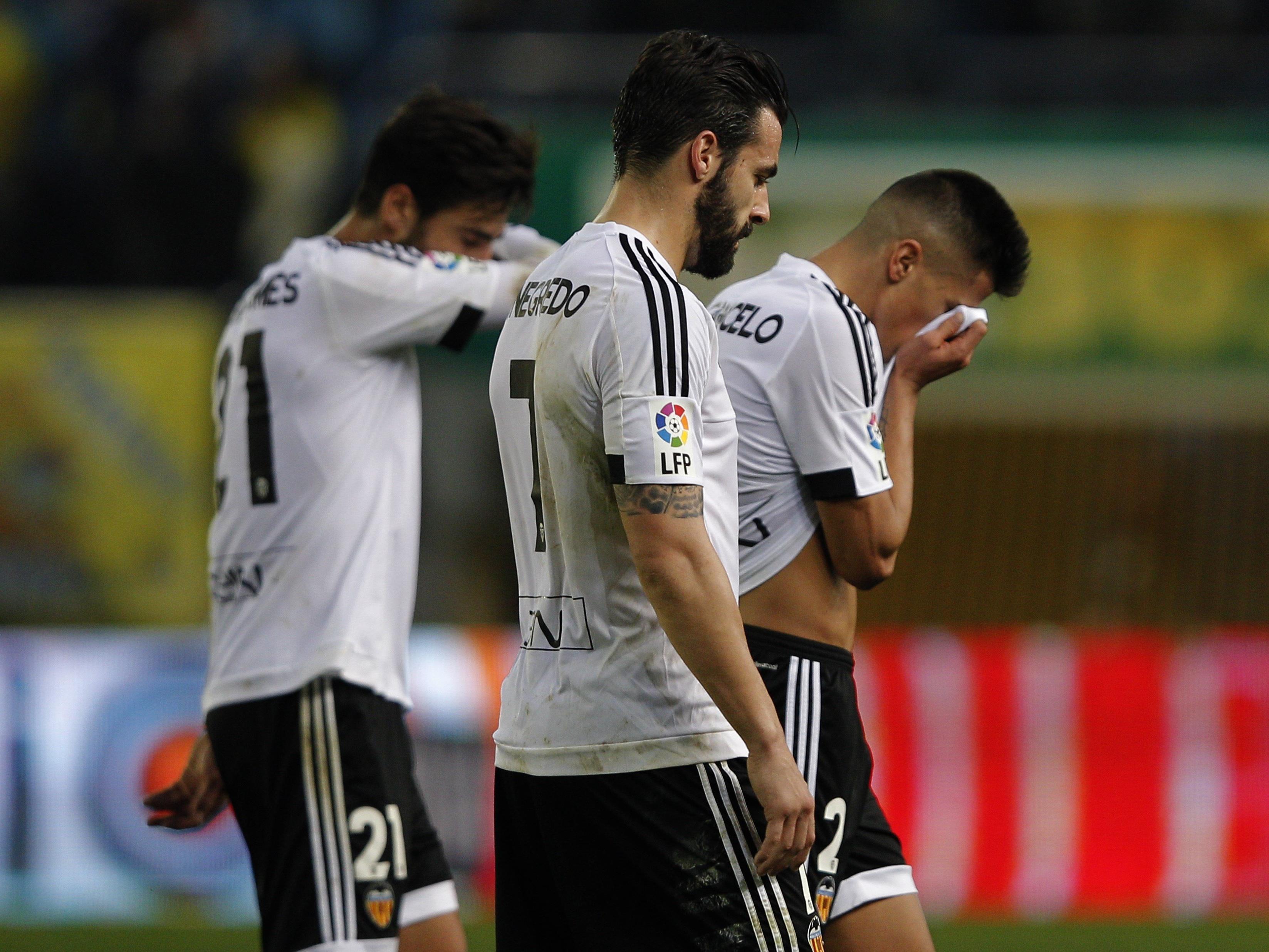 Weiterhin hängende Köpfe beim FC Valencia.