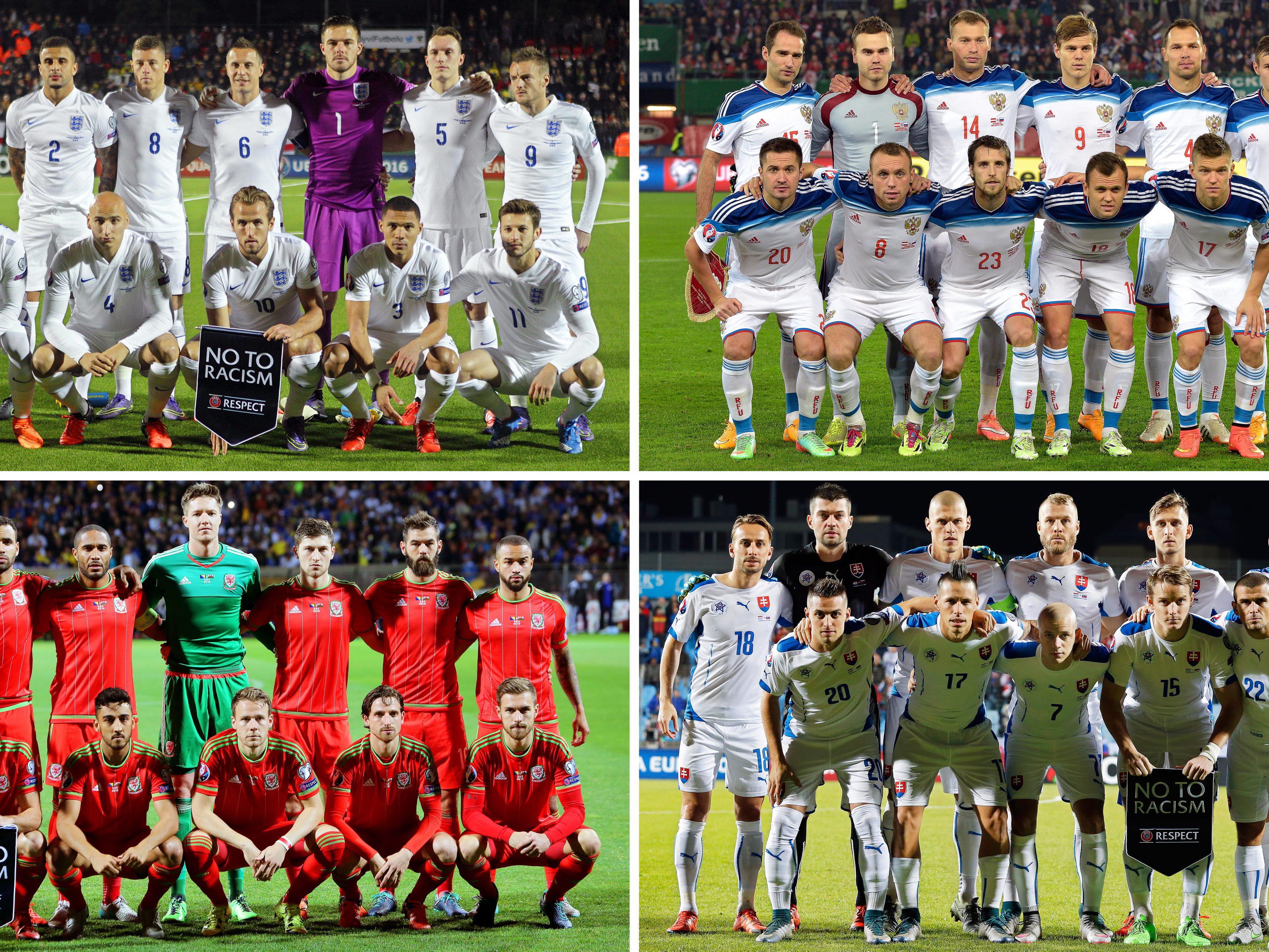 Die Gruppe B der Fußball-EM 2016 in Frankreich.