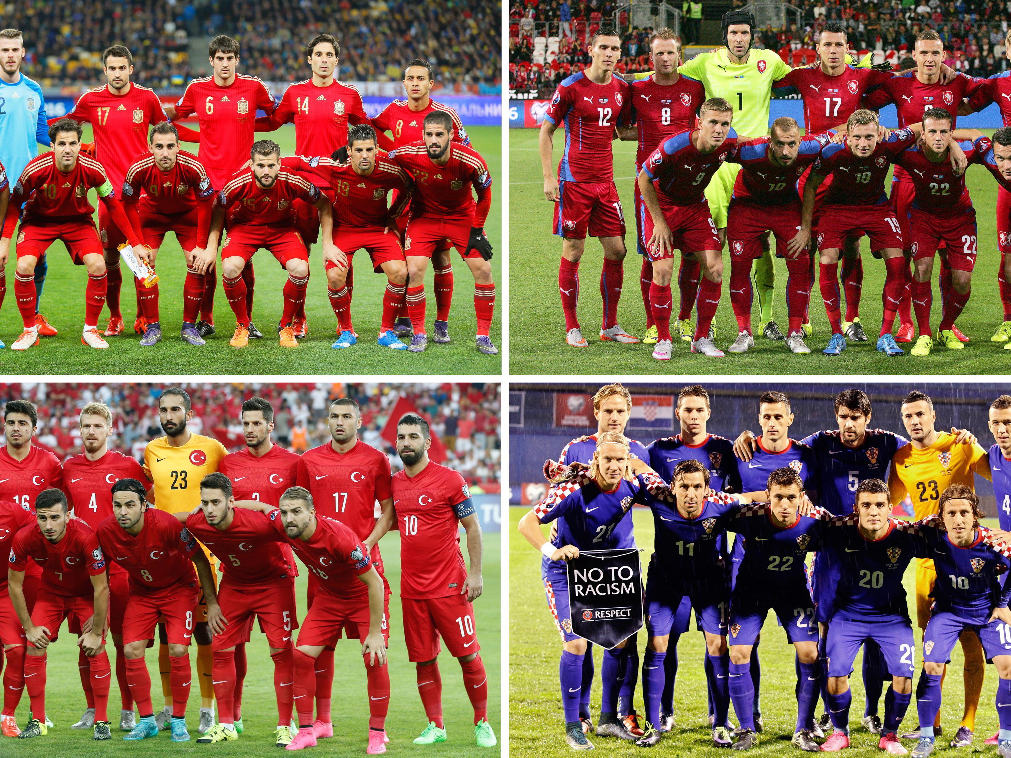 Die Gruppe D der Fußball-EM 2016 in Frankreich.