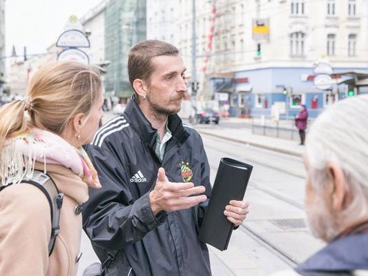 """Bei den """"Shades Tours Vienna"""" führen Obdachlose durch soziale Einrichtungen."""