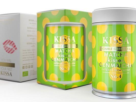 KISSA Double Green Tea Matcha Kisses Genmaicha ist die Damenspende beim Opernball 2016