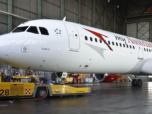 Die AUA switscht Flugzeug-Modelle.
