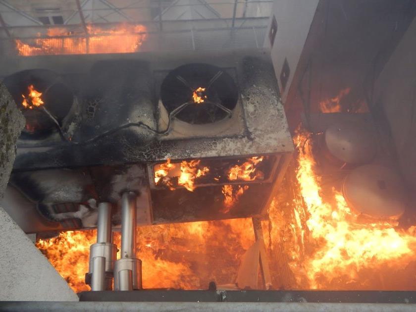Das Lüftungsgerät dürfte den Brand ausgelöst haben.