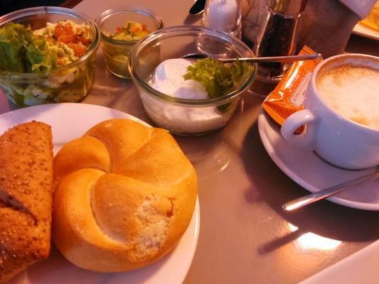 Viel Auswahl in Sachen Frühstück bietet das Kolin.
