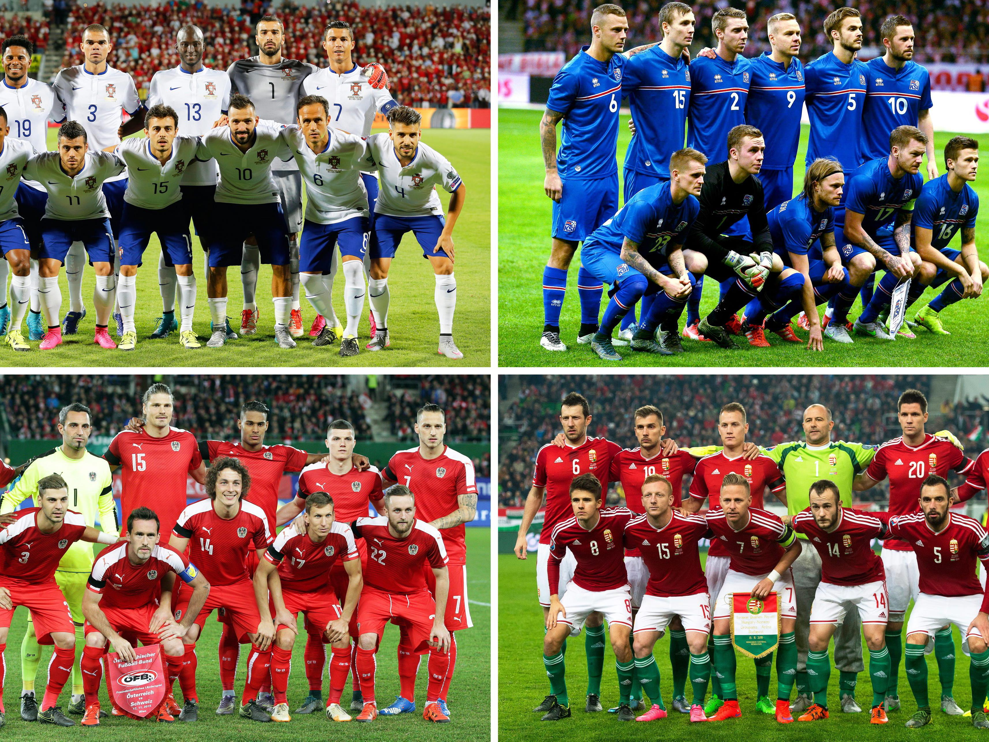 Die Gruppe F der Fußball-EM 2016 in Frankreich.