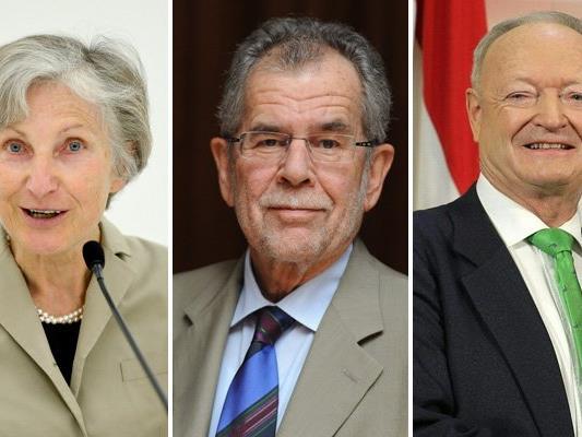 Griss, Van der Bellen und Khol stehen als Kandidaten bereits fest.