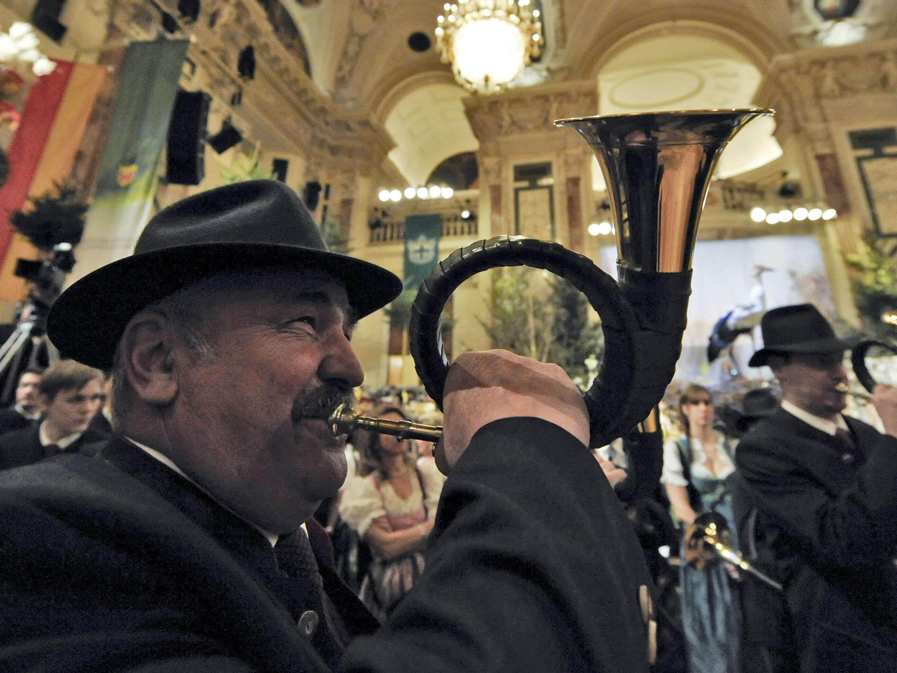 Auch dieses Jahr darf man sich am Wiener Jägerball auf Jagdhornbläser freuen.