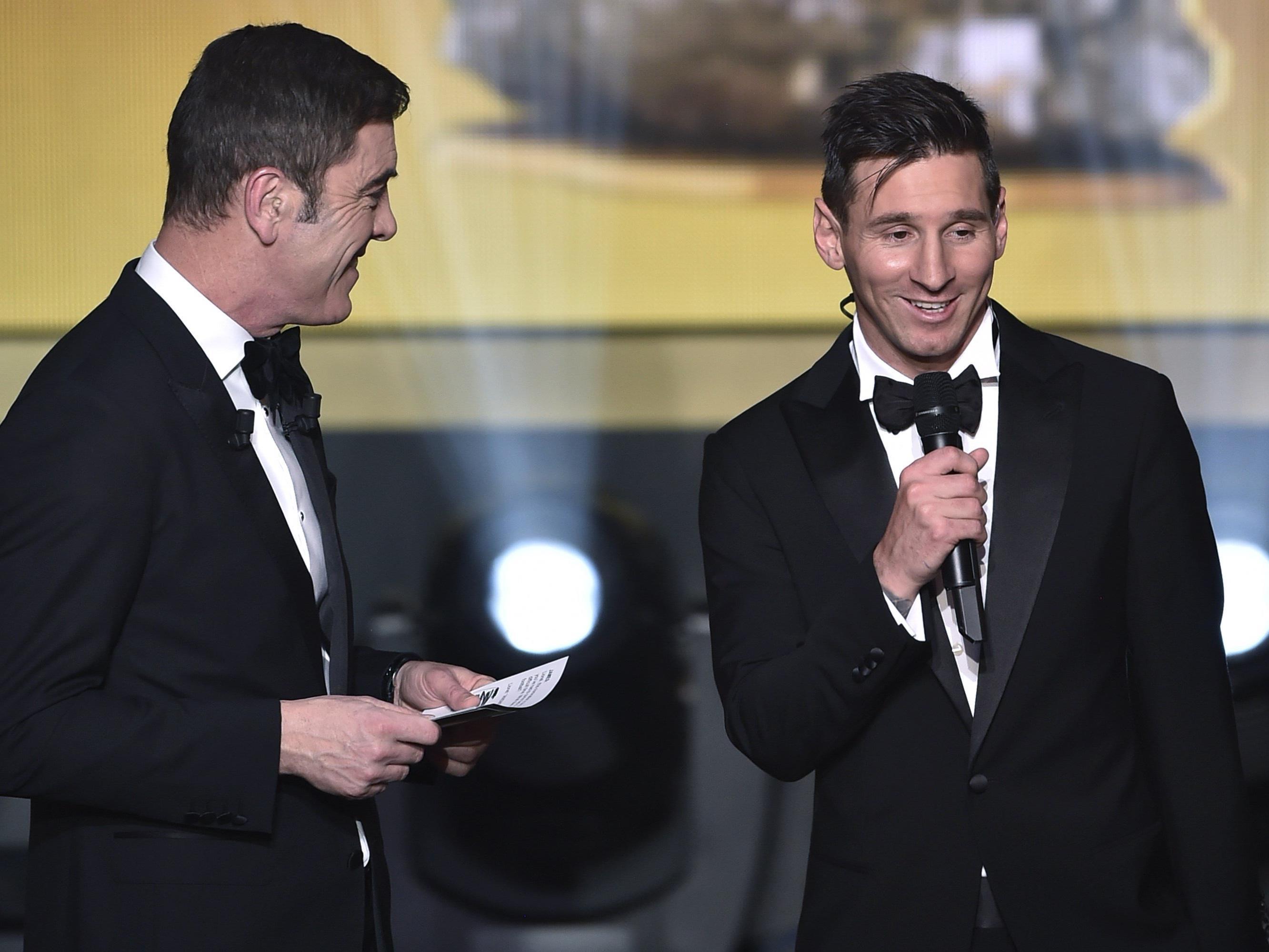 Messi gewann im Vorjahr mit dem FC Barcelona Spaniens Meisterschaft und Cup sowie die Champions League, den europäischen Supercup und die Club-WM.