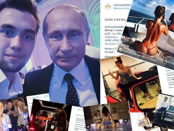 Noch schnell ein Selfie mit Putin und dann wieder ab auf die Party!