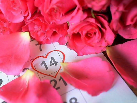 Valentinstag als Feiertag für den Blumenhandel