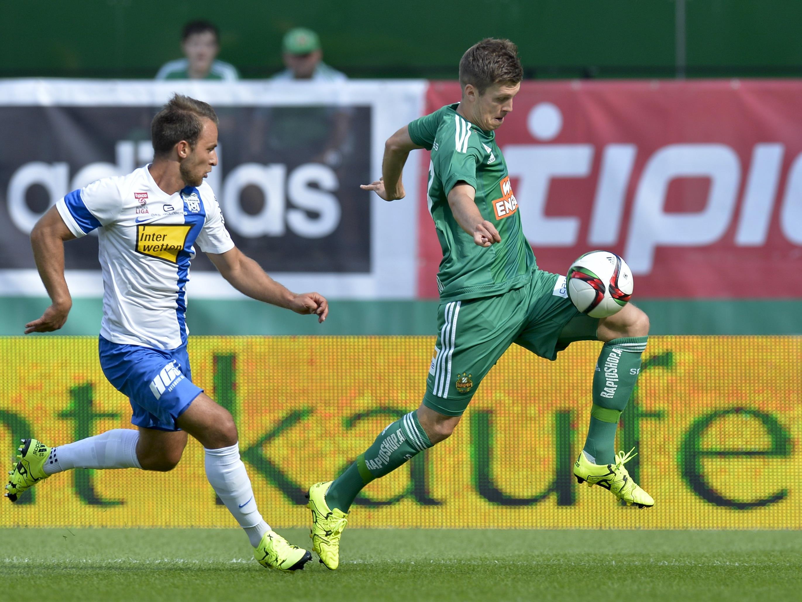 LIVE-Ticker zum Spiel SK Rapid Wien gegen SV Grödig ab 14.00 Uhr.