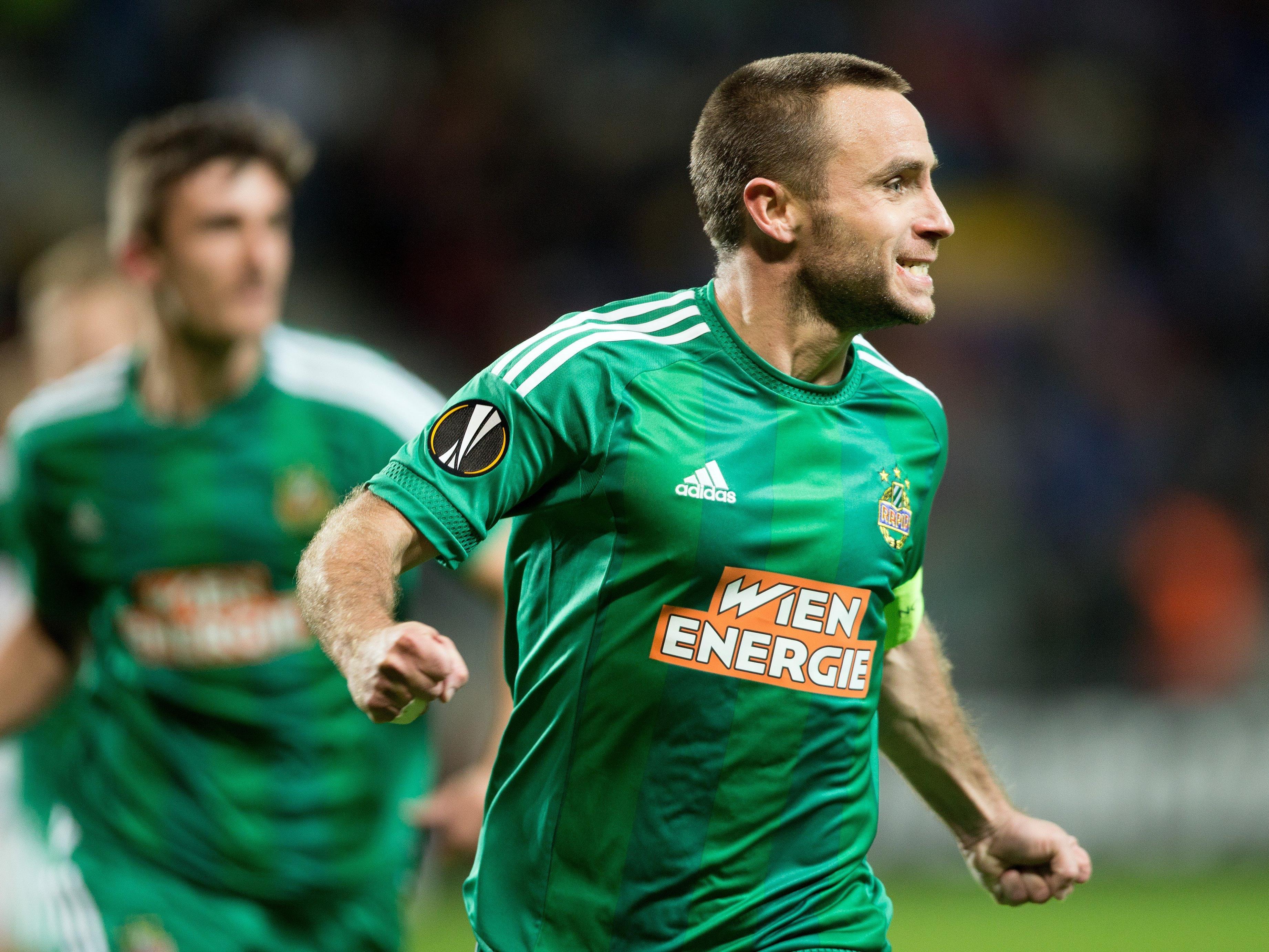 Steffen Hofmann bleibt ein weiteres Jahr bei seinem Verein Rapid Wien.