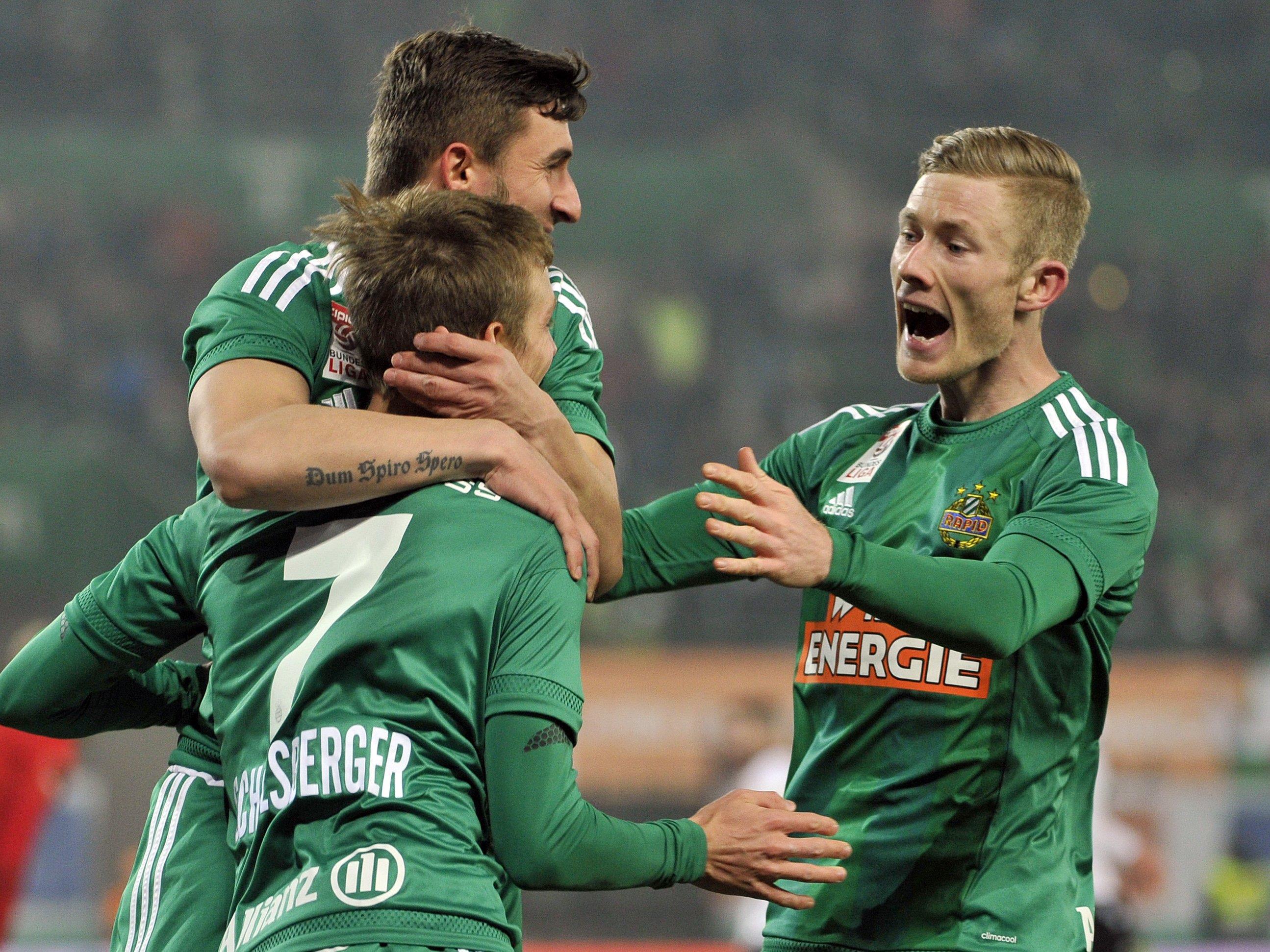 Im Cup kämpfen Rapid WIen und Admira Wacker Mödling um den Aufstieg ins Halbfinale.