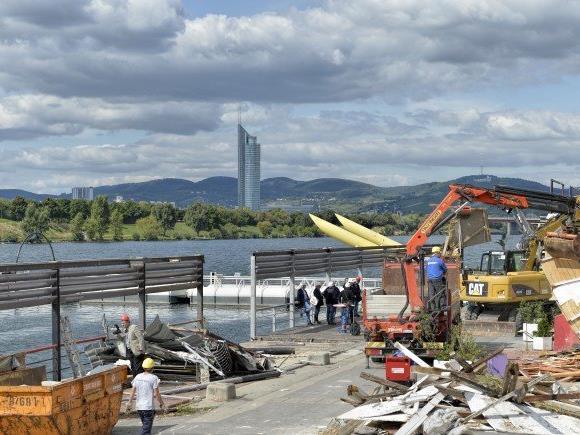 Auf der Copa Cagrana wurden die Lokale abgerissen